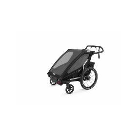 CROOZER KID FOR 2 PLUS Vaaya GRAPHITE BLUE 2020 3v1 odpružený vozík za kolo - 1