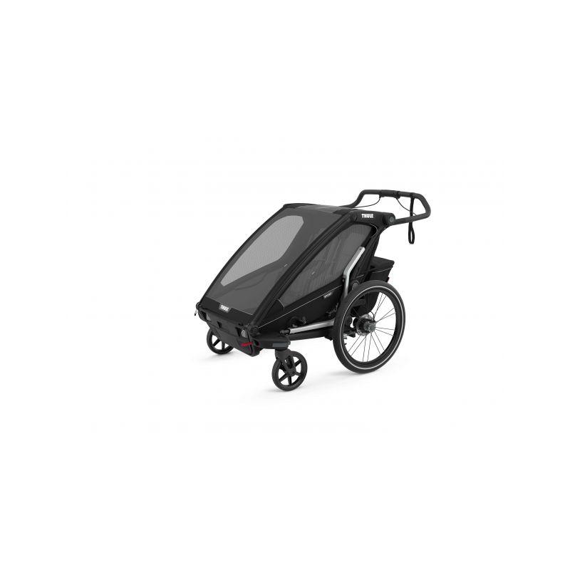 CROOZER KID FOR 2 PLUS Vaaya GRAPHITE BLUE 2020 2v1 odpružený vozík za kolo  Croozer Kid